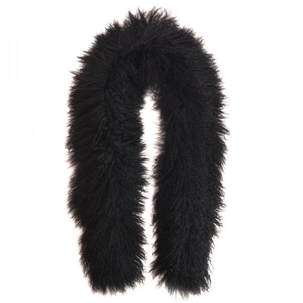 Tibetlamm Schal schwarz 140 cm