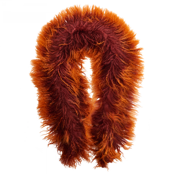 Tibetlammschal rot-orange